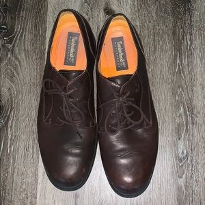 Men's Timberland Leather Brown Dress Shoes Sz 14